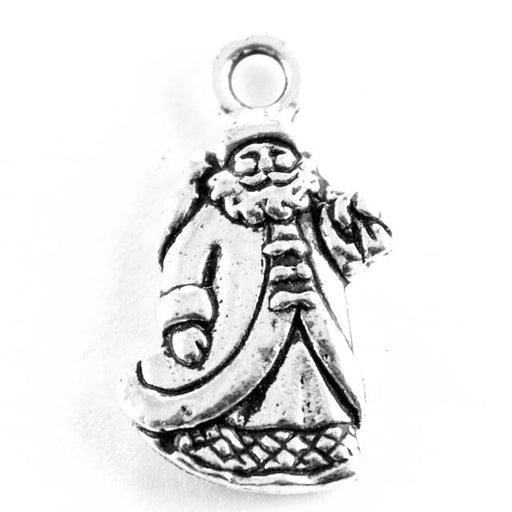 St. Nick Charm - Antique Silver Plate