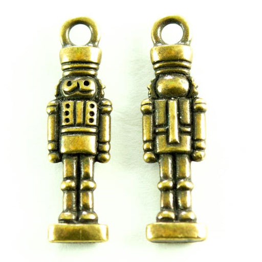 Nutcracker Charm - Oxidized Brass
