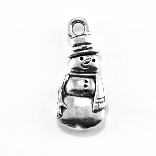 Frosty Snowman Charm - Antique Silver Plate
