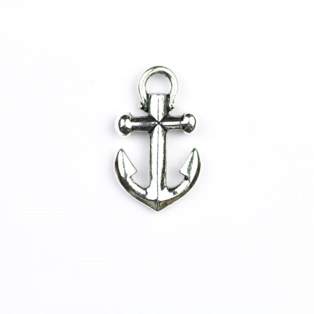 Anchor Charm - Antique Silver Plate