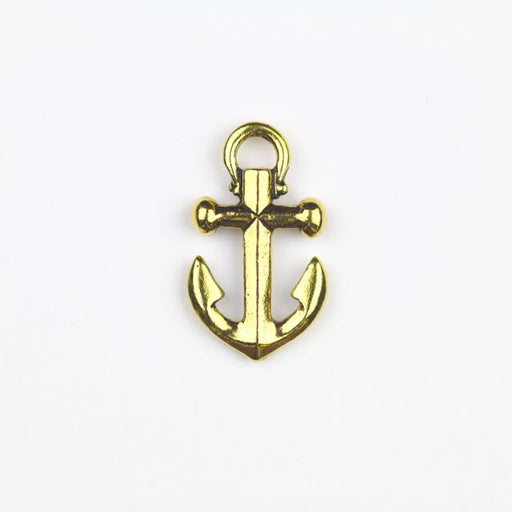 Anchor Charm - Antique Gold Plate