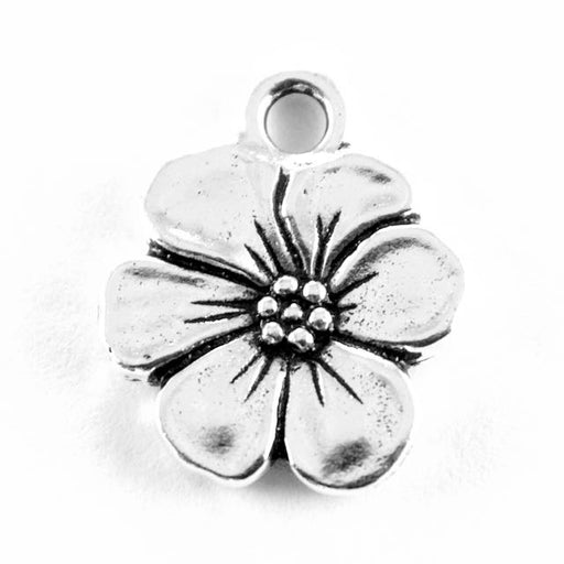 Apple Blossom Charm - Antique Silver
