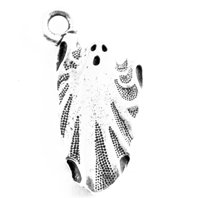 Ghost Charm - Antique Silver Plate