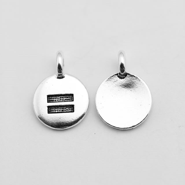 Equality Charm - Antique Silver Plate