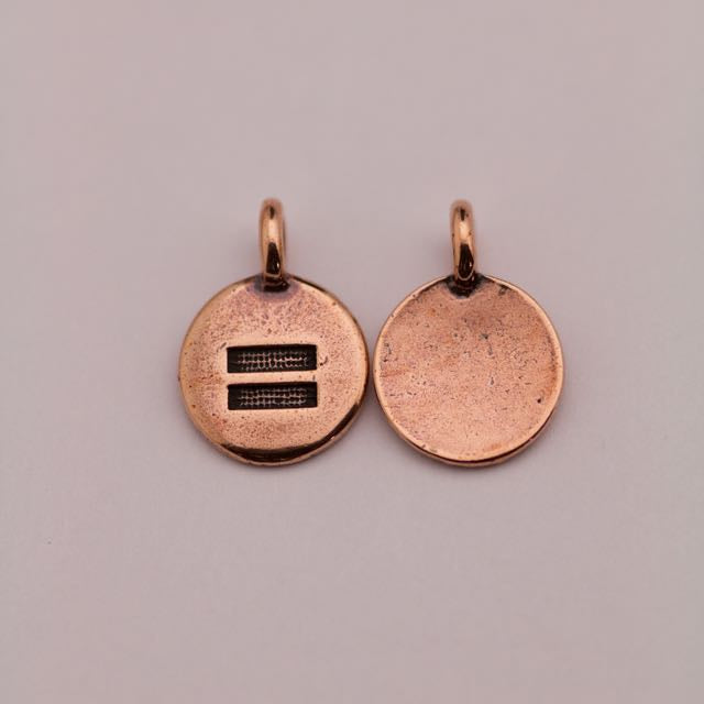 Equality Charm - Antique Copper Plate
