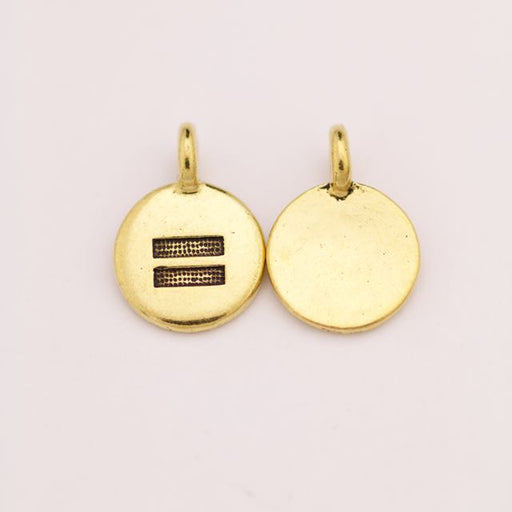 Equality Charm - Antique Gold Plate