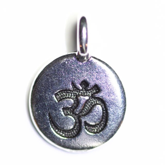 OM Charm - Antique Silver Plate
