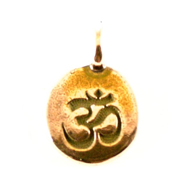 OM Charm - Antique Copper Plate