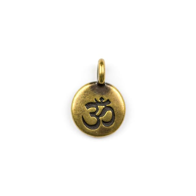 OM Charm - Oxidized Brass