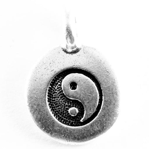 Yin Yang Charm - Antique Silver Plate