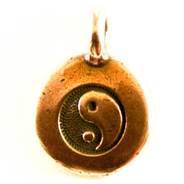 Yin Yang Charm - Antique Copper Plate