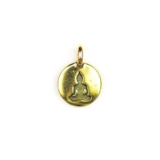 Buddha Charm - Antique Gold Plate