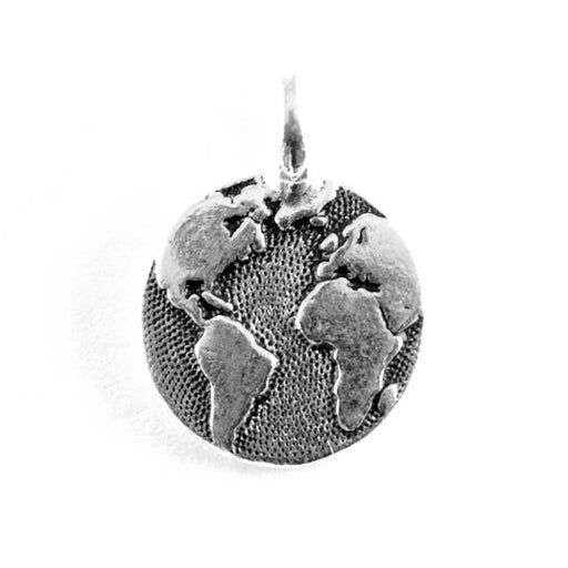 Earth Charm - Antique Silver Plate