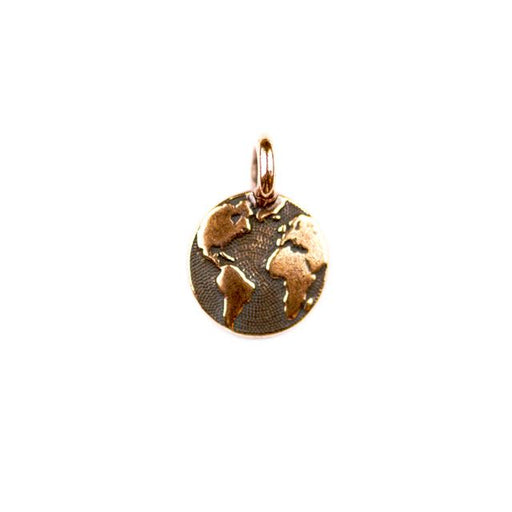 Earth Charm - Antique Copper Plate