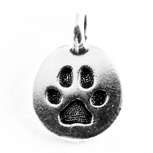 Paw Charm - Antique Silver Plate