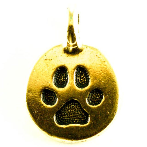 Paw Charm - Antique Gold