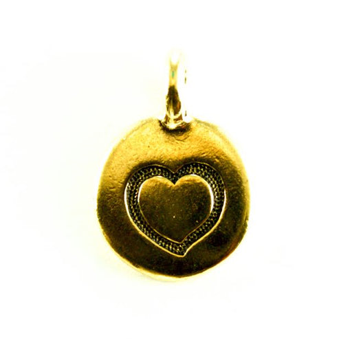 Heart Charm - Antique Gold