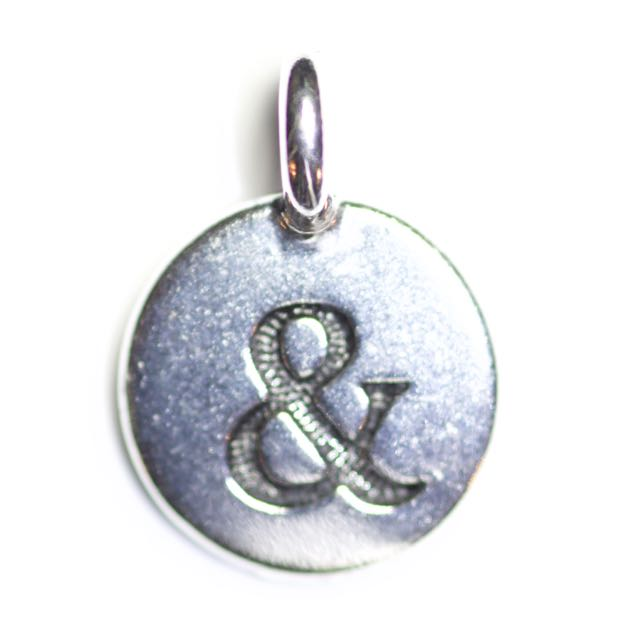 Ampersand Charm - Antique Silver Plate