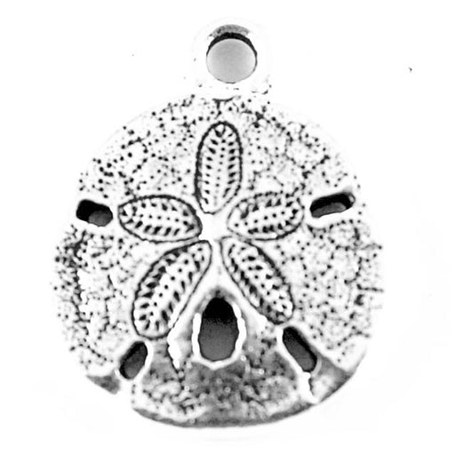 Sand Dollar Charm - Antique Silver Plate