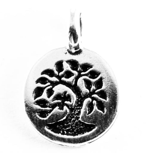 Tree Charm - Antique Silver Plate