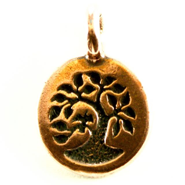 Tree Charm - Antique Copper Plate
