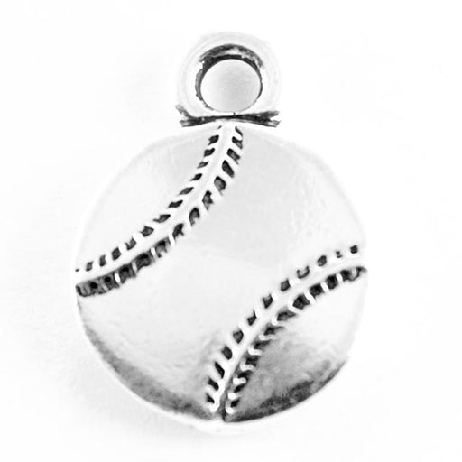 Baseball Charm - Antique Silver Plate