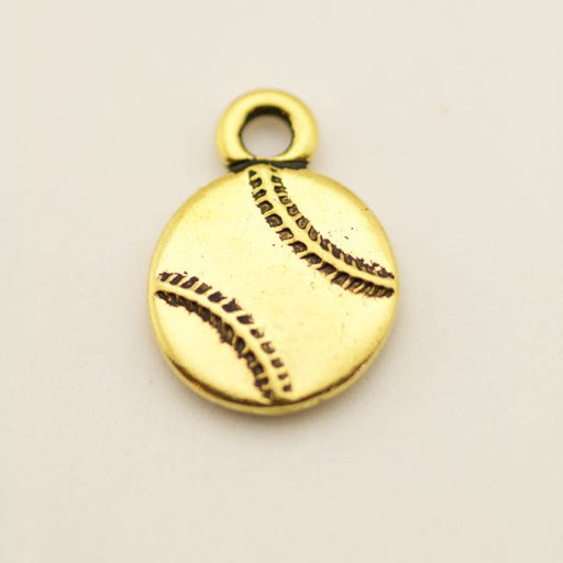 Baseball Charm - Antique Gold Plate