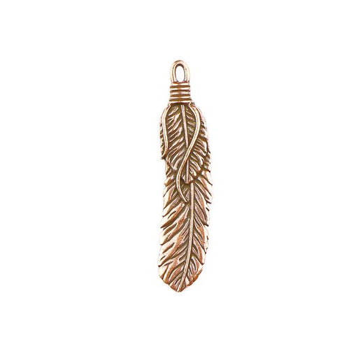 2 Feather Pendant - Antique Copper