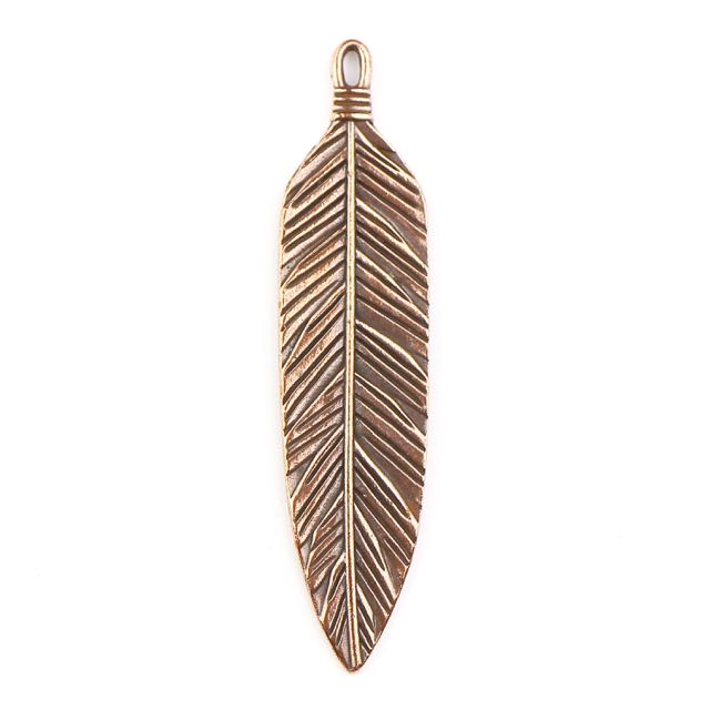 3 Feather Pendant - Antique Copper Plate