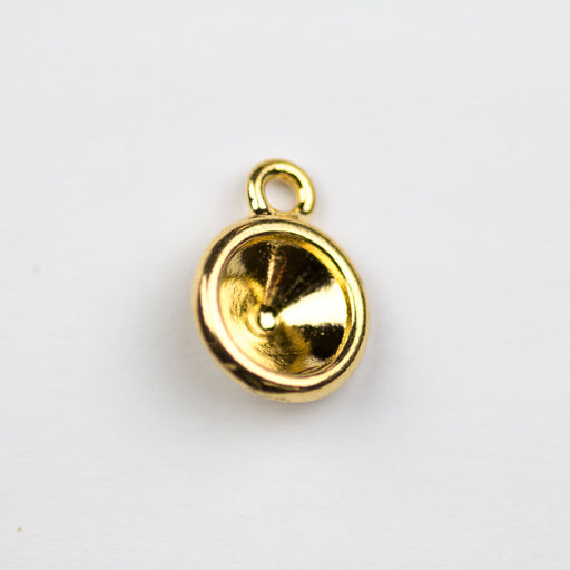 Plain SS39 Chaton Bezel Drop - Gold Plate***