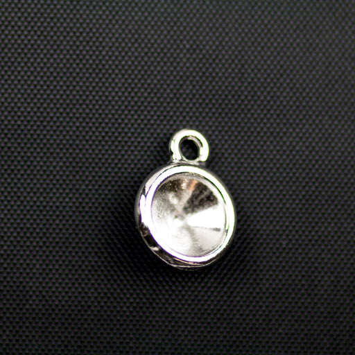 Plain SS39 Chaton Bezel Drop - Rhodium Plate