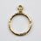 Stitch-around 18mm Hoop Charm - Gold Plate