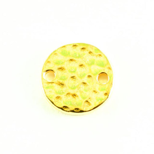 Hammered Round Link - Bright Gold Plate
