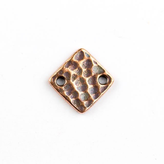 Hammertone Diamond Link - Copper Plate