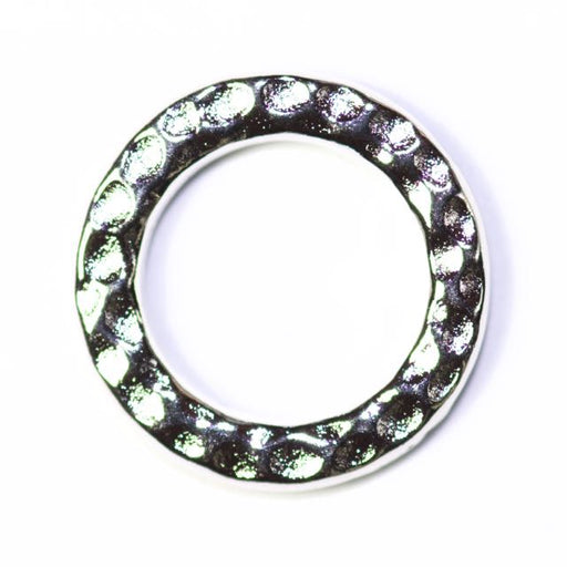 Medium Ring Link - Rhodium