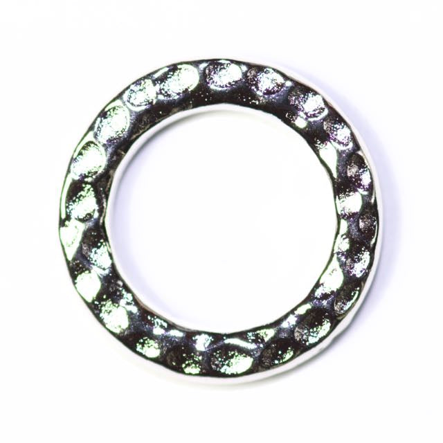 Medium Ring Link - Rhodium Plate