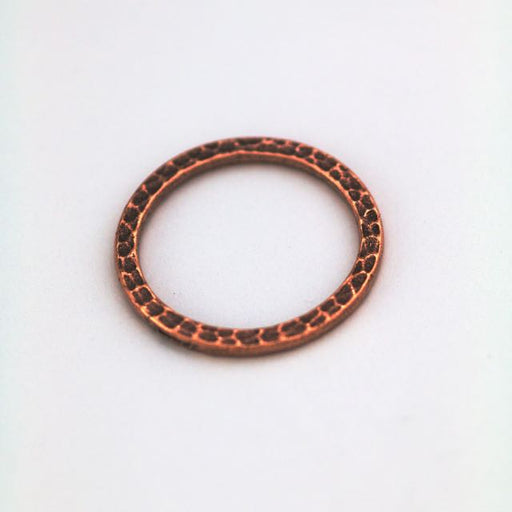 1 Hammertone Ring Link - Antique Copper