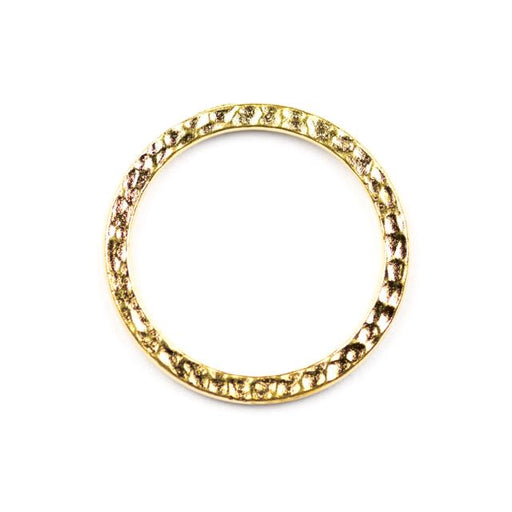 1 Hammertone Ring Link - Bright Gold Plate
