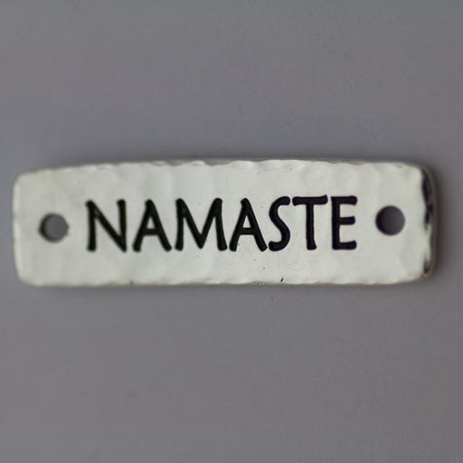 Namaste Link - Antique Silver