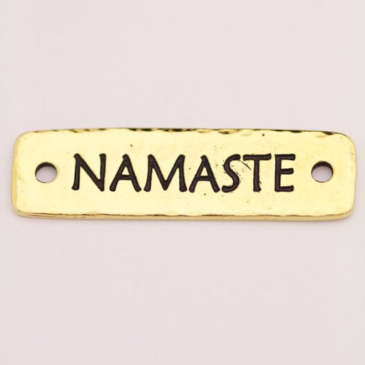 Namaste Link - Antique Gold Plate
