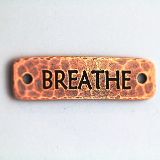 Breathe Link - Antique Copper Plate