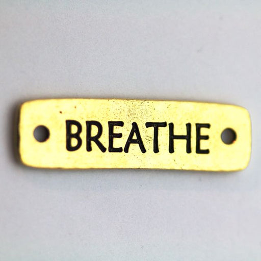 Breathe Link - Antique Gold Plate