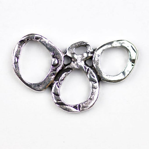 INTERMIX 3 Ring Link - Antique Silver