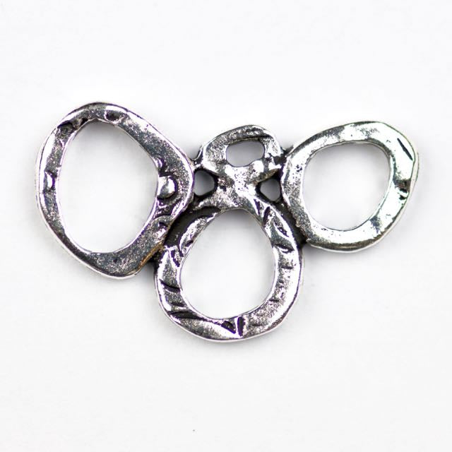 INTERMIX 3 Ring Link - Antique Silver Plate