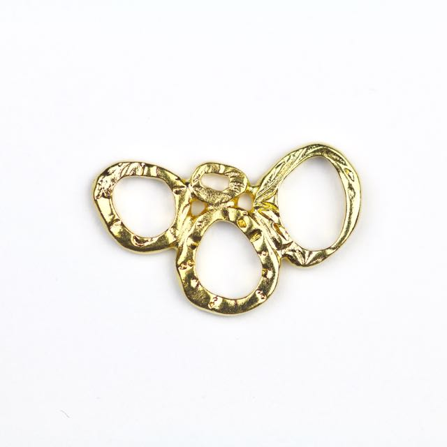 INTERMIX 3 Ring Link - Gold Plate