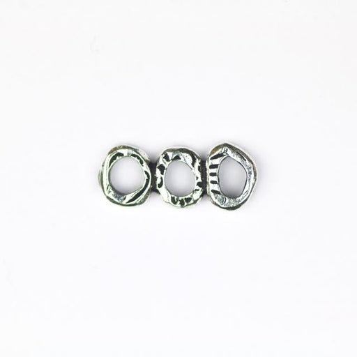INTERMIX 3 Ring Bar Link - Antique Silver