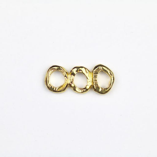 INTERMIX 3 Ring Bar Link - Gold Plate