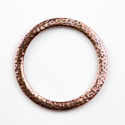 Hammertone 1.25 inch Ring - Antique Copper Plate