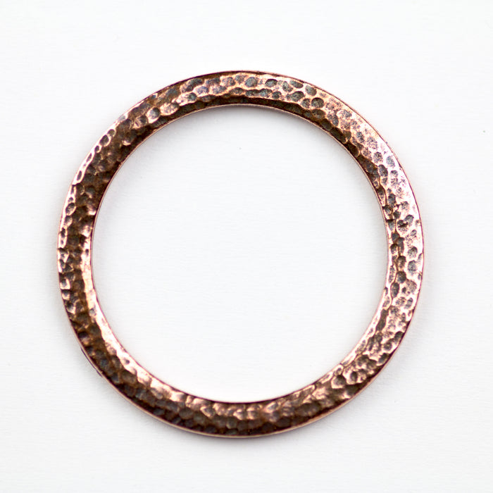 Hammertone 1.25 inch Ring - Antique Copper Plate***