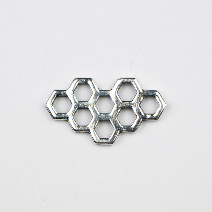 Honeycomb Link - Antique Silver Plate***